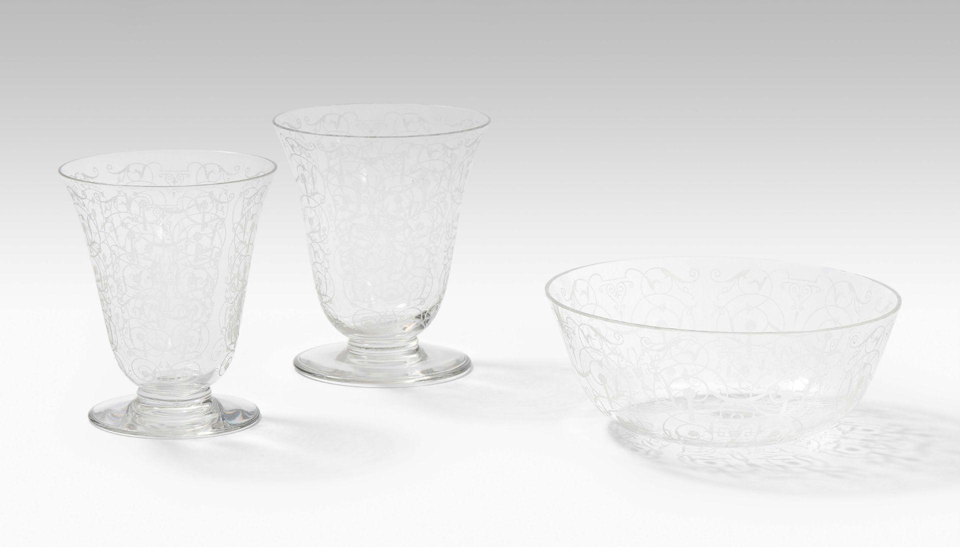 Baccarat, Gläserserviceteile