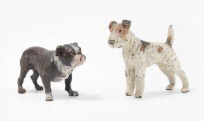 Tierfiguren: Mops und Terrier