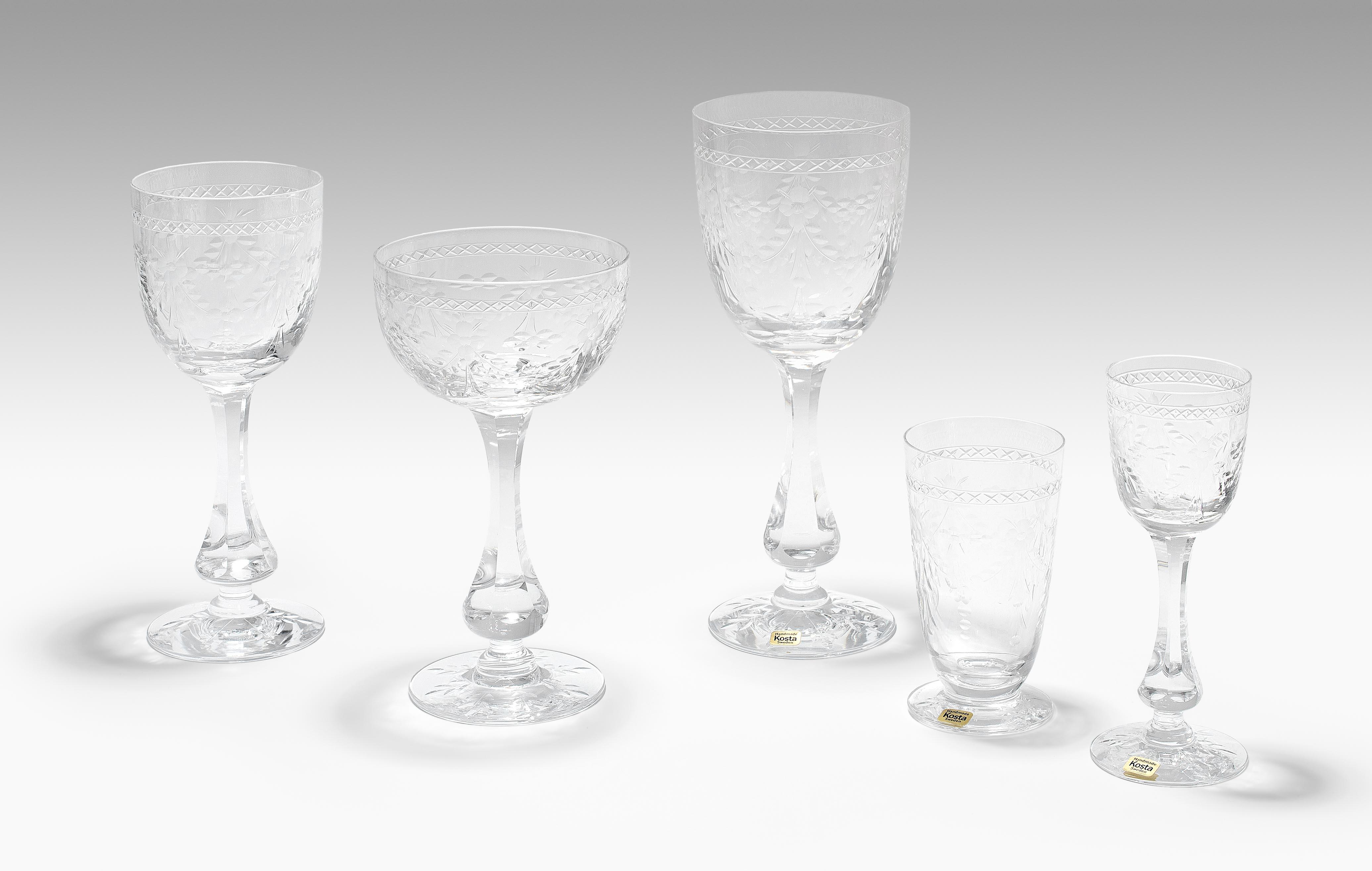 Kosta, Gläserservice