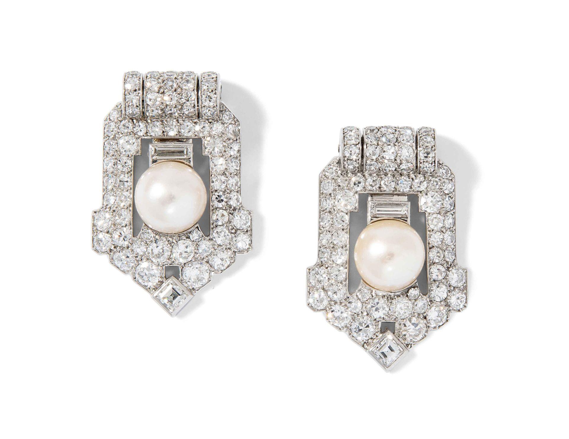 Cartier Diamant-Perlen-Dress-Clips