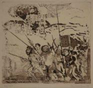 Rolf Lindemann(Magdeburg 1933 -, deutscher Maler, Grafiker u. Dozent, Std. a.d. KHS Be
