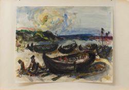 Mutterlose(Schkeuditz 1927 - 1995 ebenda, deutscher Maler, Zeichner u. Grafiker, Kunst