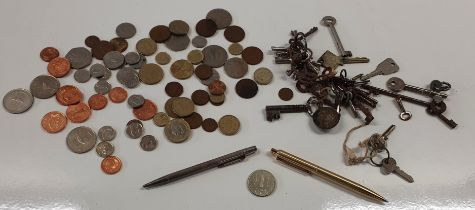 A Birmingham Silver Pencil, a quantity of mint Coinage and other Items.