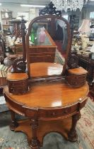 Of Superb quality. A really fine Victorian Mahogany Duchess Dressing Table. W 120 x d 58 x H 169