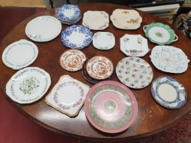 A good quantity of Cake Plates of various makers and designs.