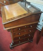 A Fabulous 19th Century Mahogany Davenport with sliding top. Fully restored in the recent past. W 64