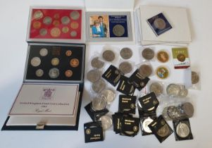 Five sets of Princess Diana marriage Coinage, other Commemorative Coinage along with Mint Sets.
