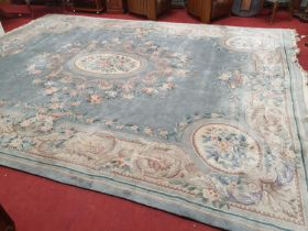 A large Chinese Rug. W 369 x 470 cm approx.