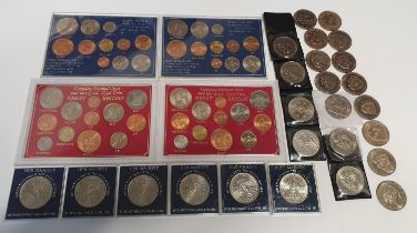 A large quantity of British Mint sets and commemorative Coinage.