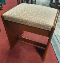 A very good Mid Century style Piano Stool. 45 x 34 x H 47 cm approx.
