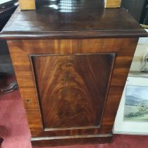 A good pair of 19th Century Bedside Cabinets with door outline. W 48 x D 57 x H 75 cm approx.
