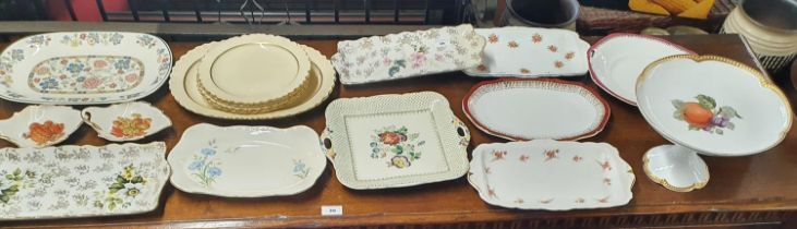 A large quantity of 19th Century and later Cake Plates.