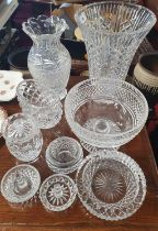 A large quantity of primarily Waterford Crystal to include vases, bowl etc.