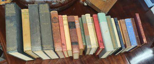A good quantity of Books along with a silver plated Salver etc.