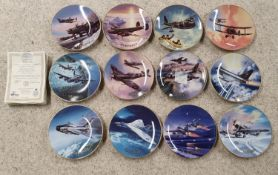 A full Set of Davenport 'Wings of Fame' Collectors Plates. With certs.