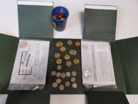 A quantity of mint Millennium 20p and 10p Coins along with two Dublin Mint Coins.