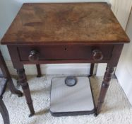 A Georgian Mahogany single drawer Side Table H63 x D36 x W48cm approx., along with a 19th Century