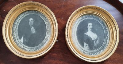 A good pair of 19th Century Prints in good period Gilt Frames. 19 x 26 cms approx.