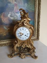 A really good 19th Brass and Ormalu Mantle Clock in the Rococo style.