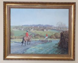 Neil Cawthorne b1936 .A pair of 20th Century Oils of The Cottesmore Fox Hounds. Signed and dated