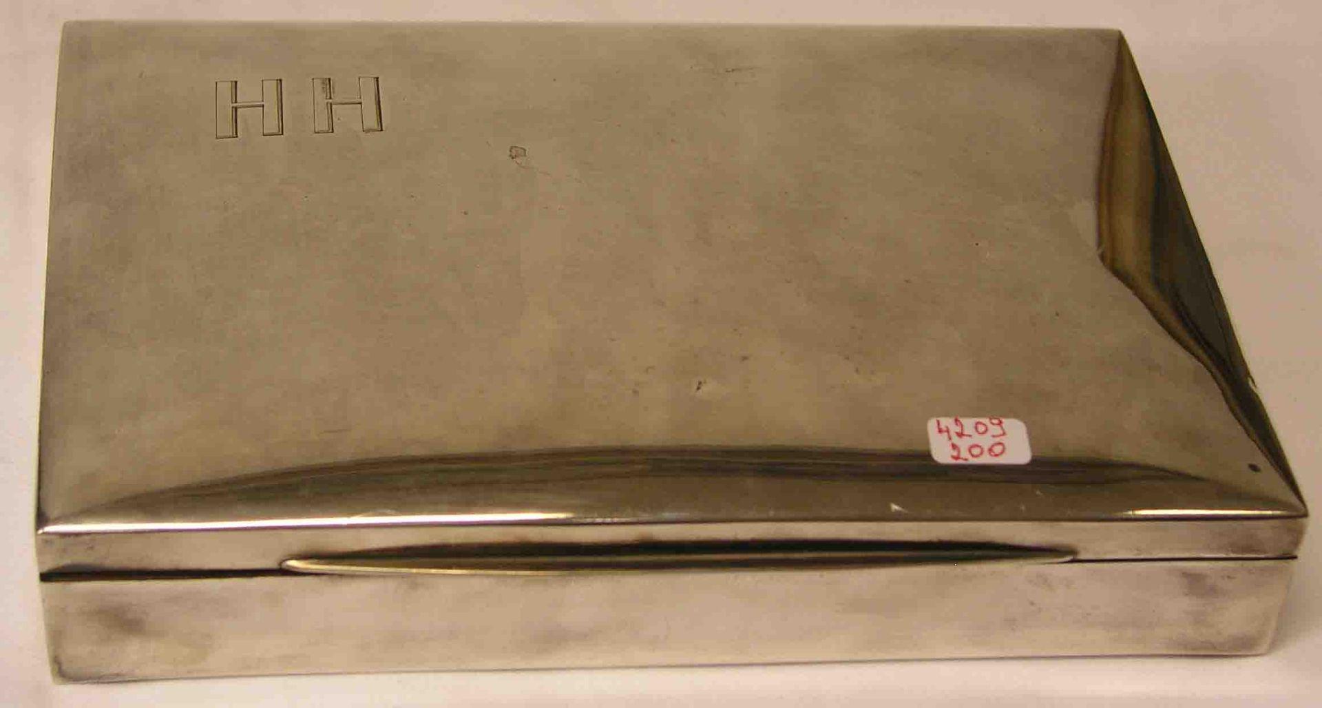 Zigarrenschatulle. 800er Silber, innen