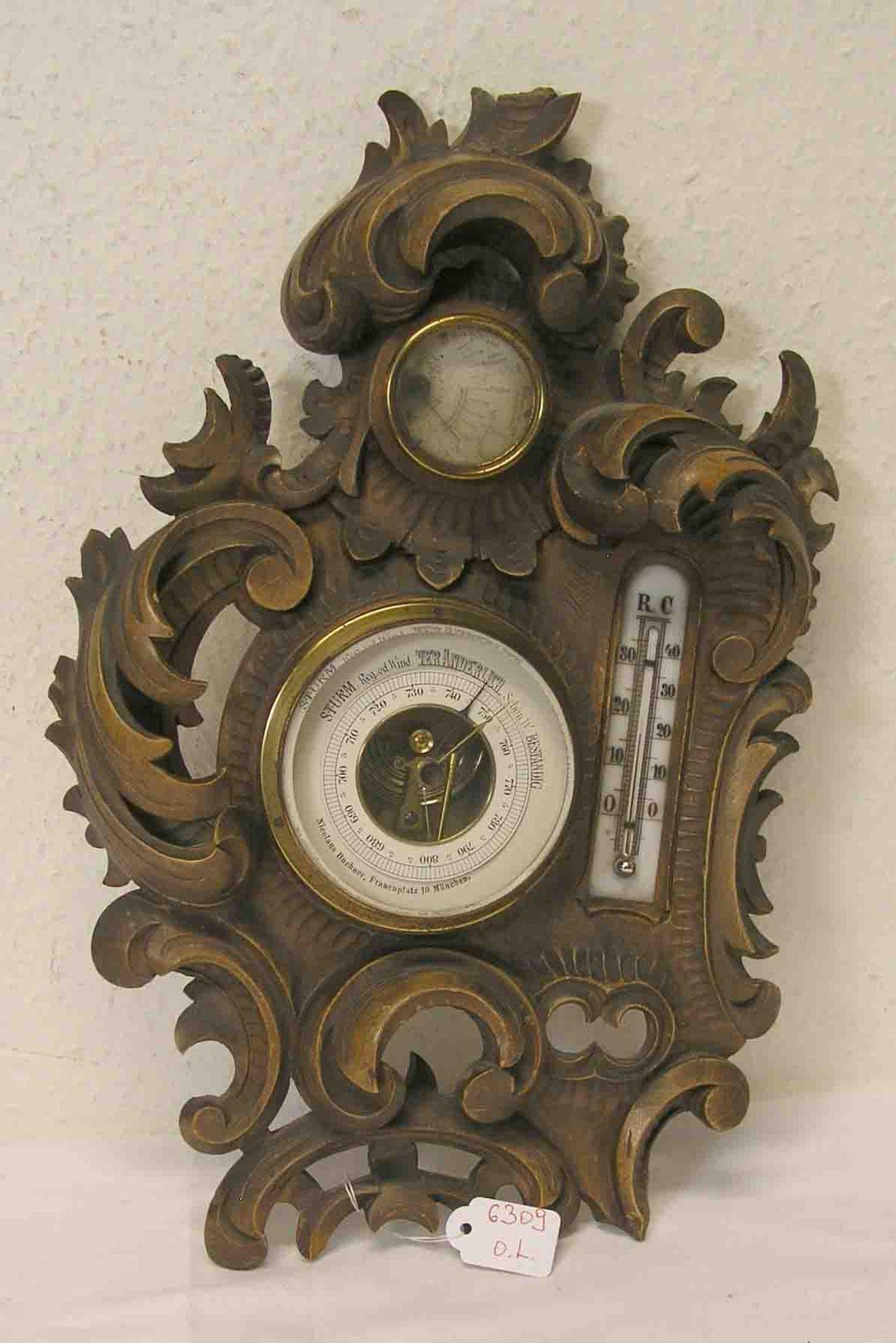 Thermometer und Barometer um 1900. Im