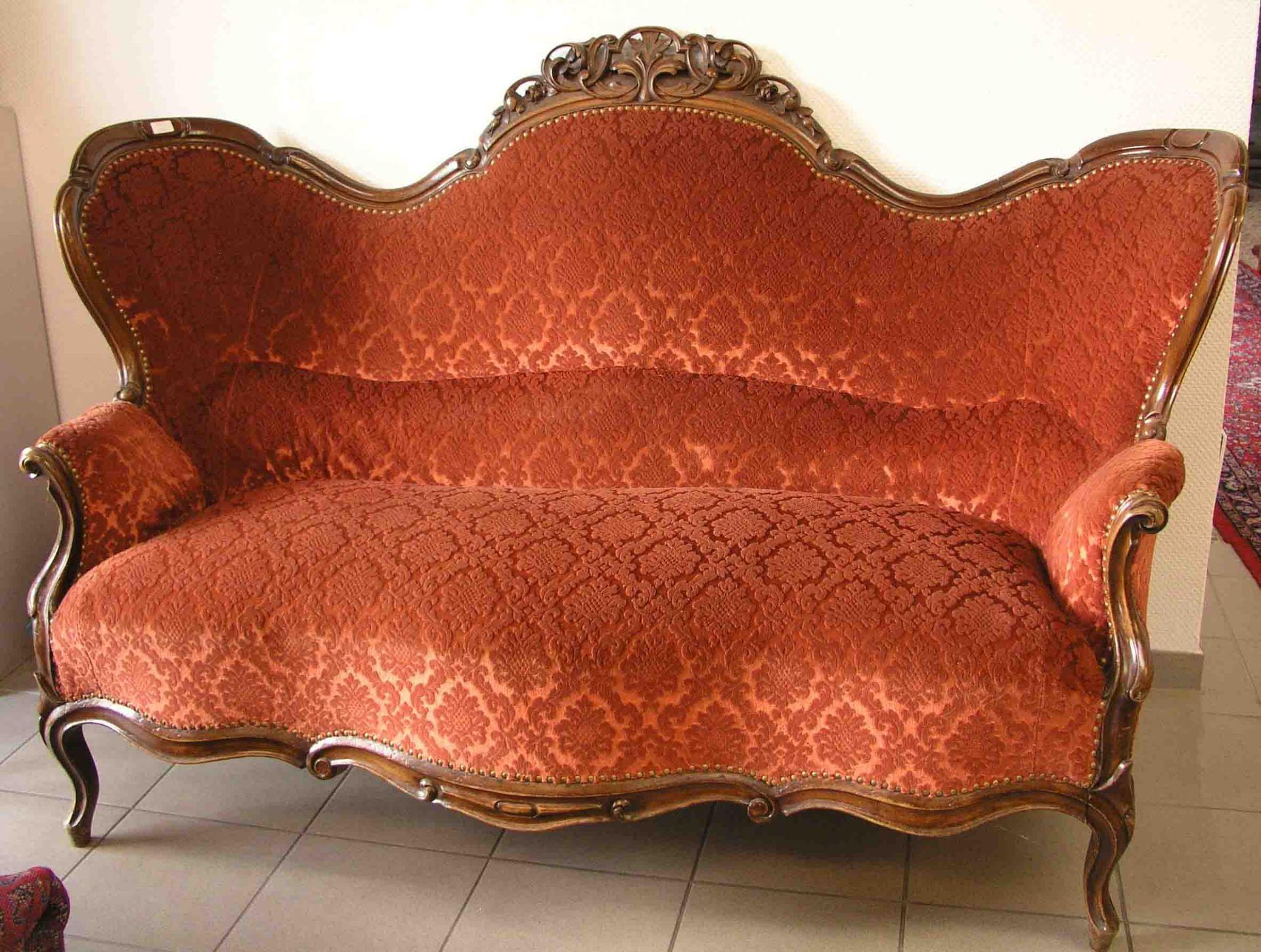 Sofa. Wiener Barock. 19. Jh.