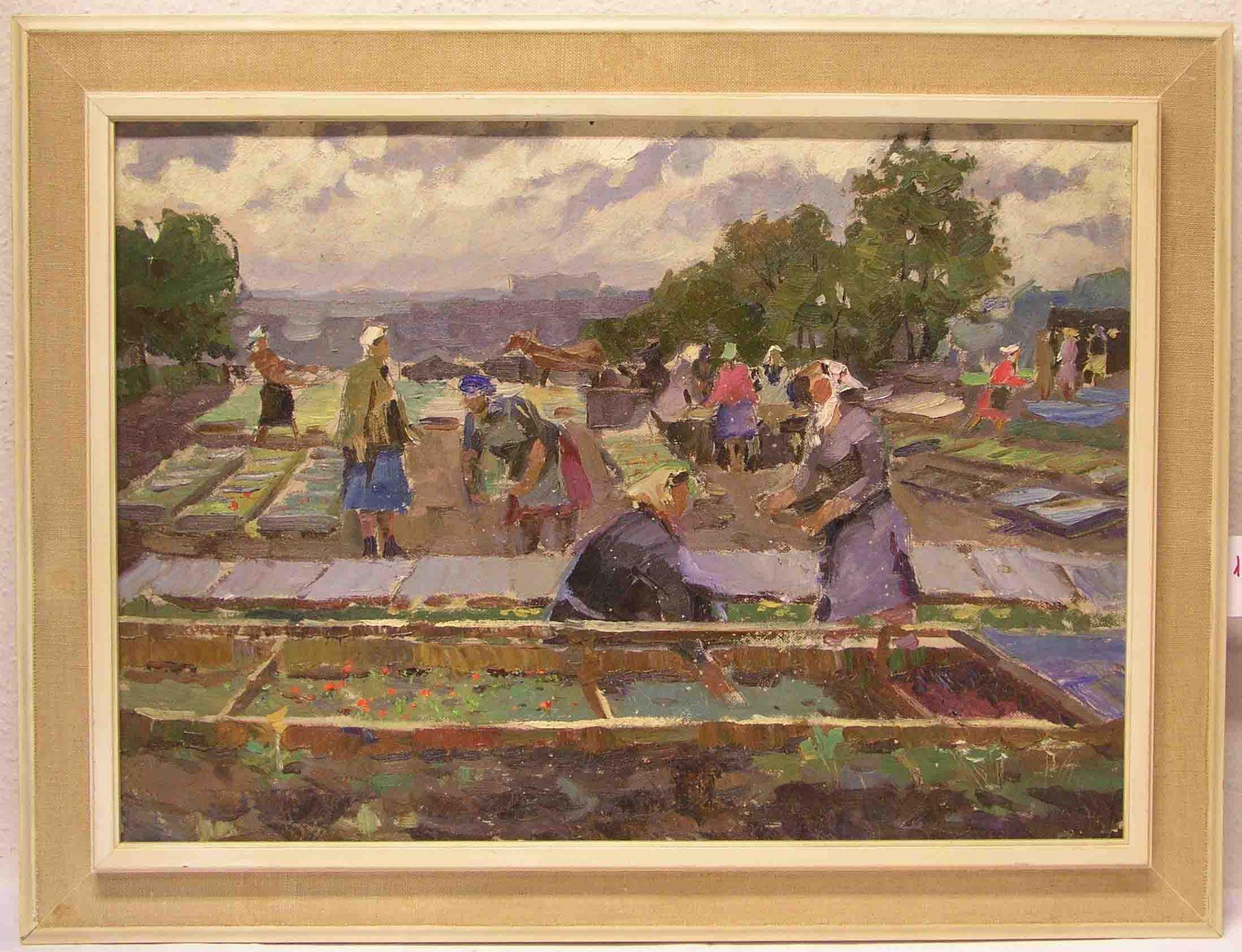 "Russischer Maler: ""Bäuerinnen bei der"