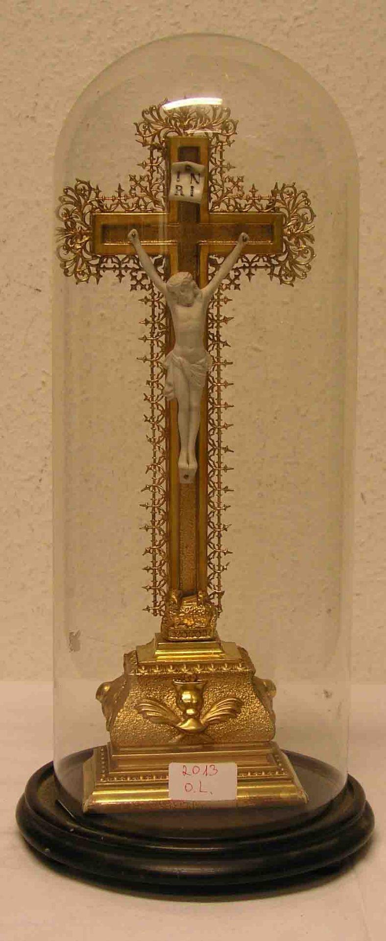 Standkruzifix. 19. Jh. Christuskorpus