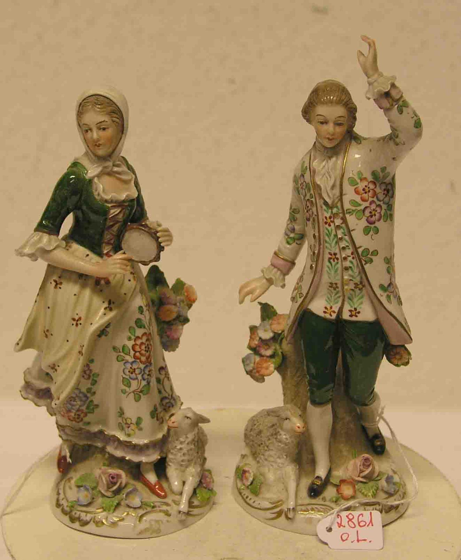 Zwei Porzellanfiguren Thüringen: