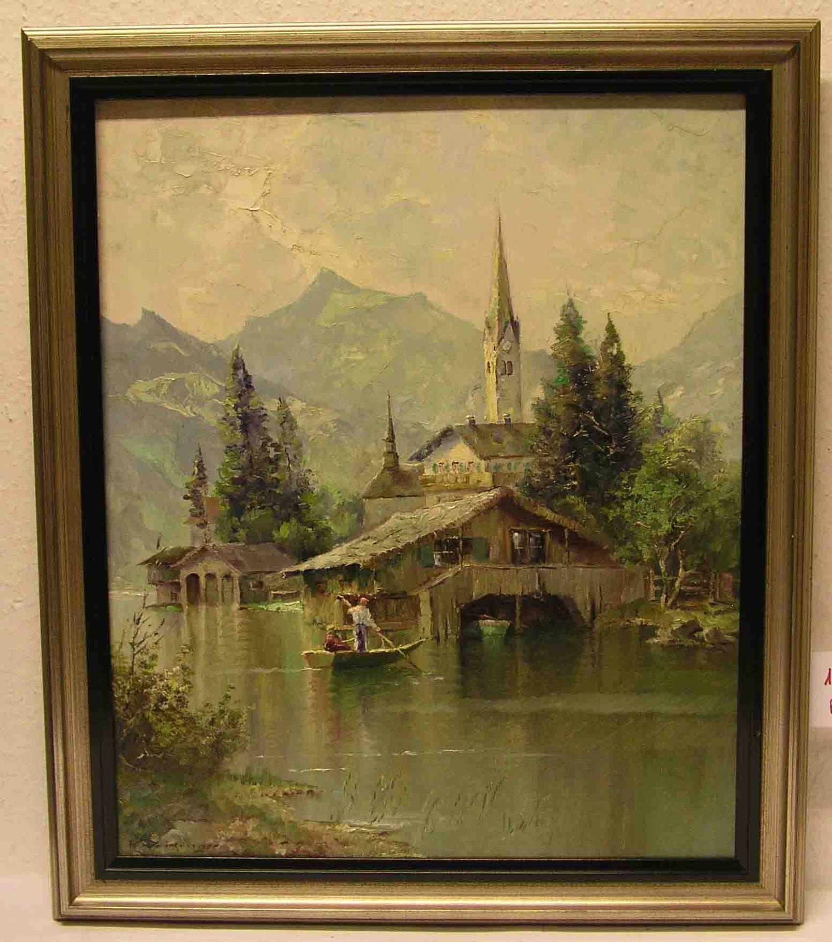 """""""Am Schliersee"""": Blick auf die St."""