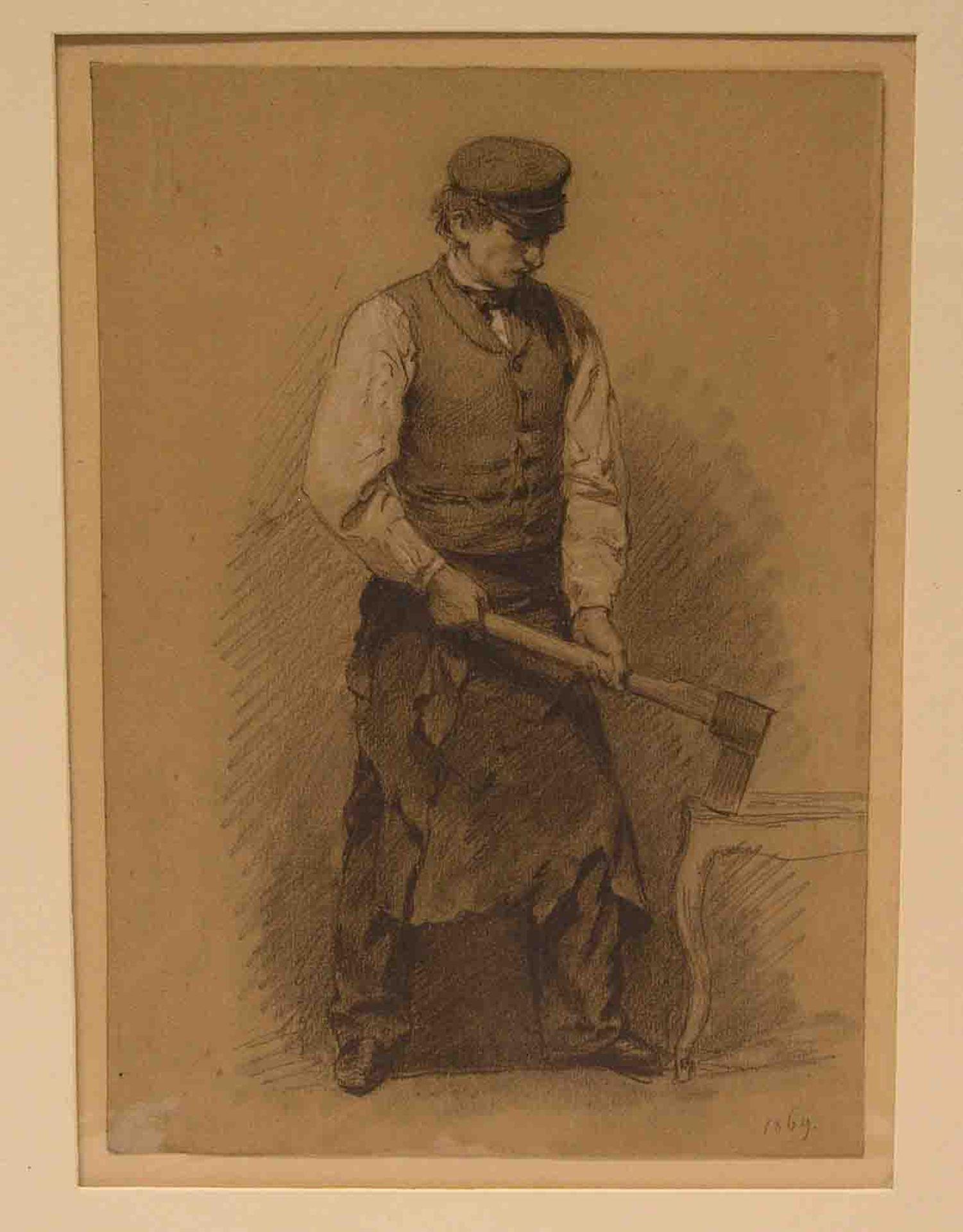 """Unbekannter Künstler, 1869: """"Arbeiter"""