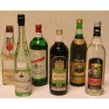 Alkoholika: Sechs verschiedene