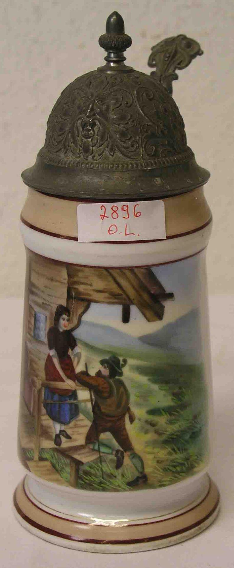 Bierkrug, 19. Jh., 0,5 Liter.