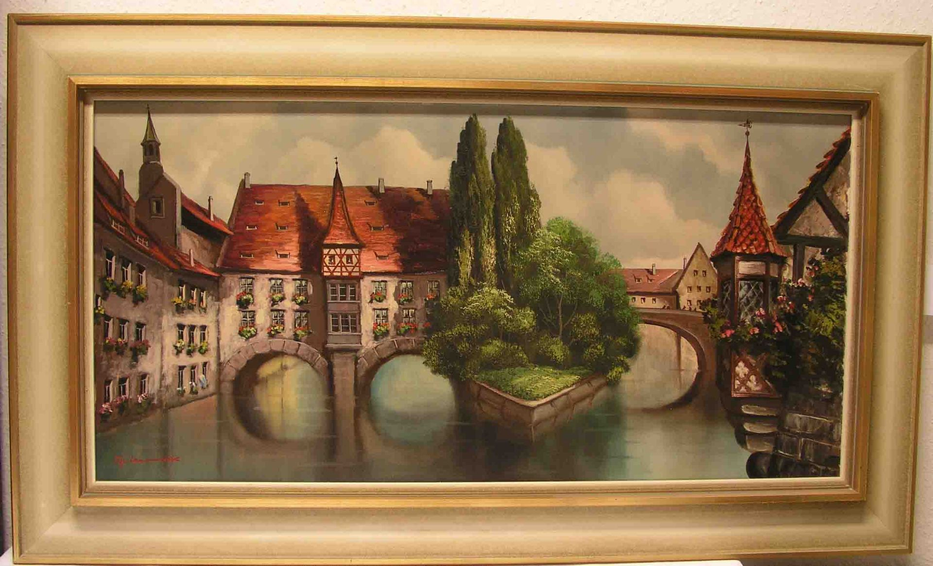 "Nürnberg: ""Henkersteg"". Öl/Lwd.,"