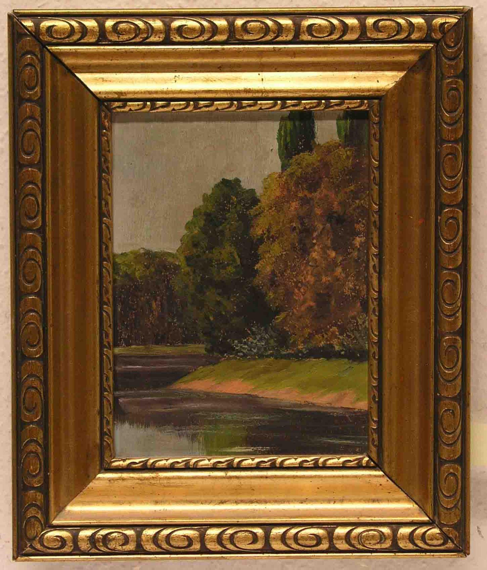 """""""Seeufer"""". Öl/Malkarton, 22 x 16cm,"""