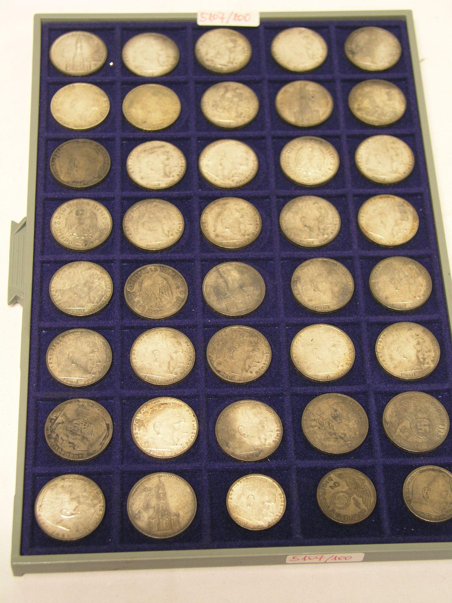 Deutsches Reich: 40 Silbermünzen.