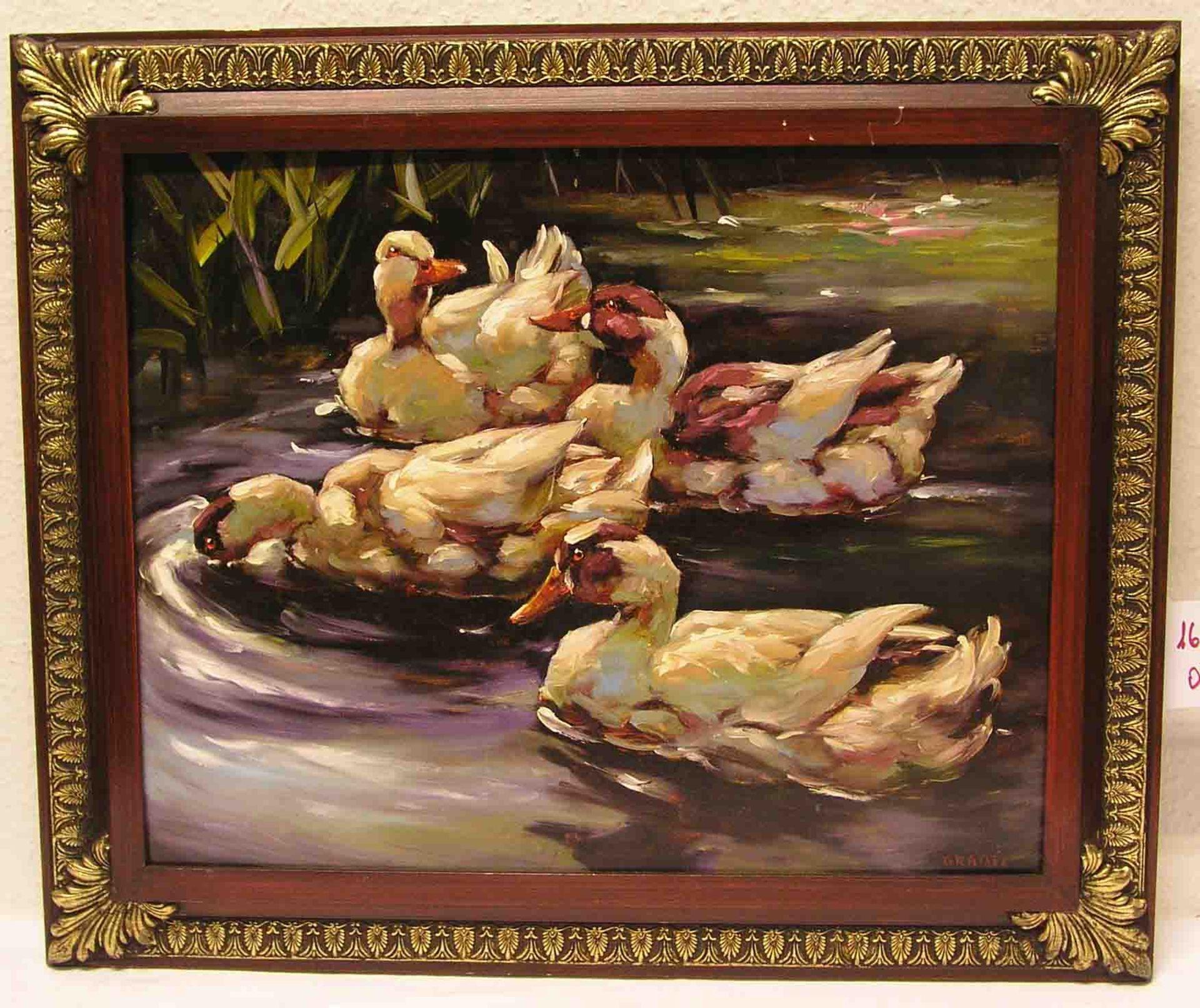 """Gräßel: """"Vier Enten am Teich""""."""