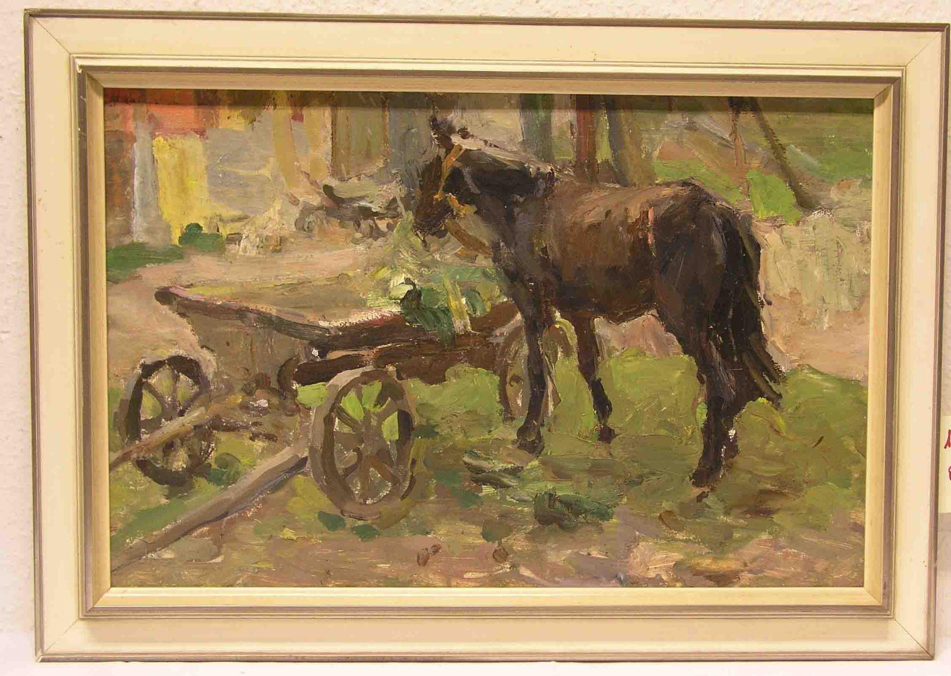 "Russischer Maler: ""Pferd neben"