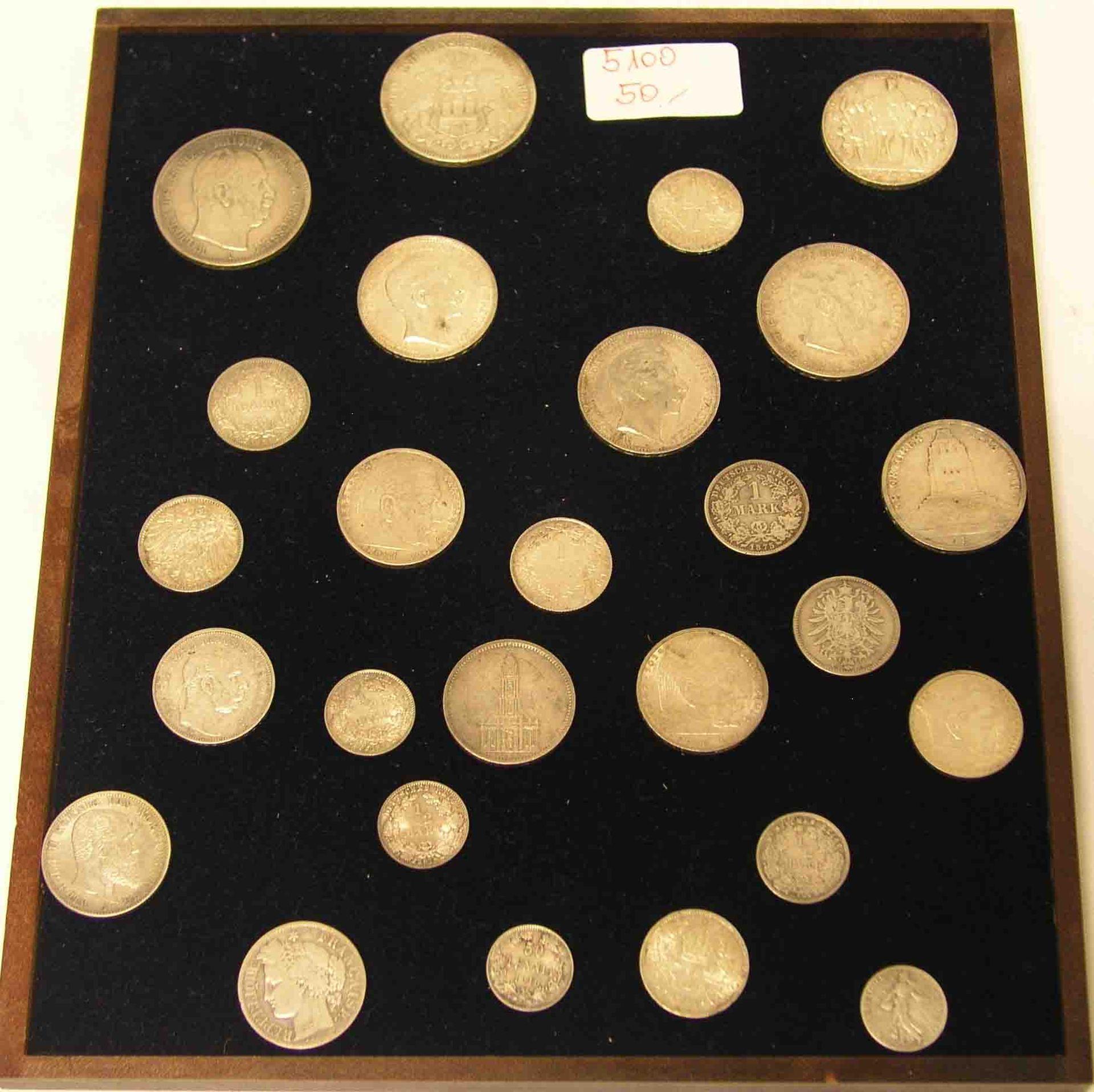 Posten von 26 Silbermünzen,