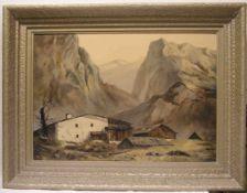 """Hetzel: """"Hütte im Hochgebirge""""."""