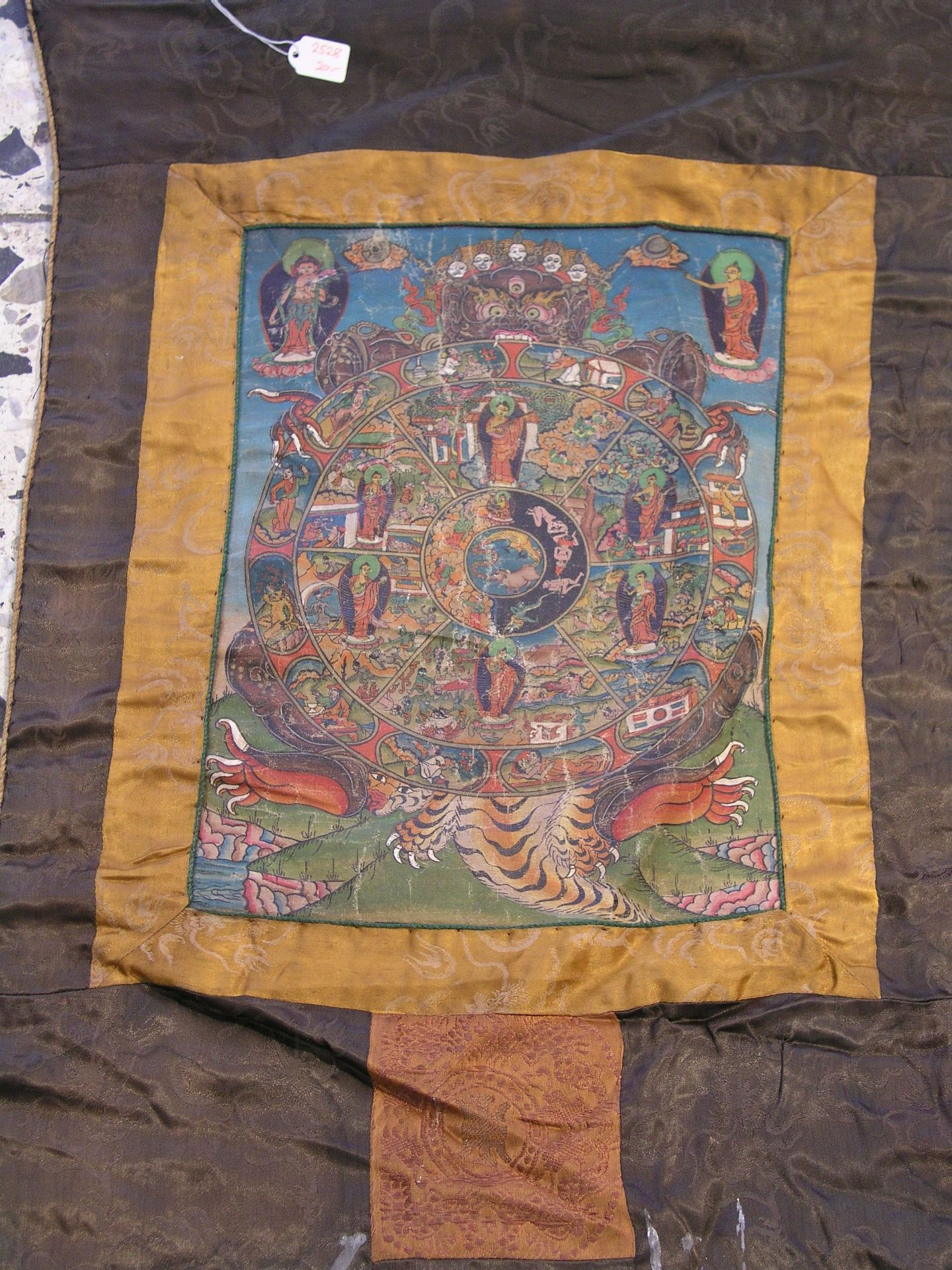 Thangka. Tibet. Handgemaltes