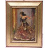 """Spanische Tänzerin"". Öl/Holz, 26 x"