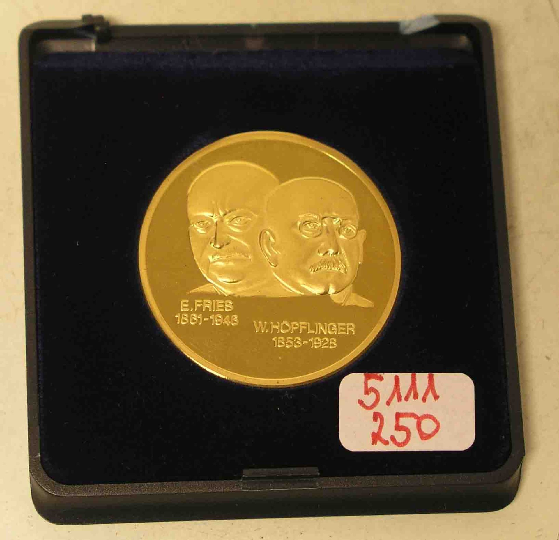 Goldmedaille E. Fries und Wilhelm