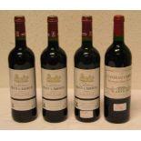Bordeaux Weine. 4 Flaschen. Dabei: 3 x