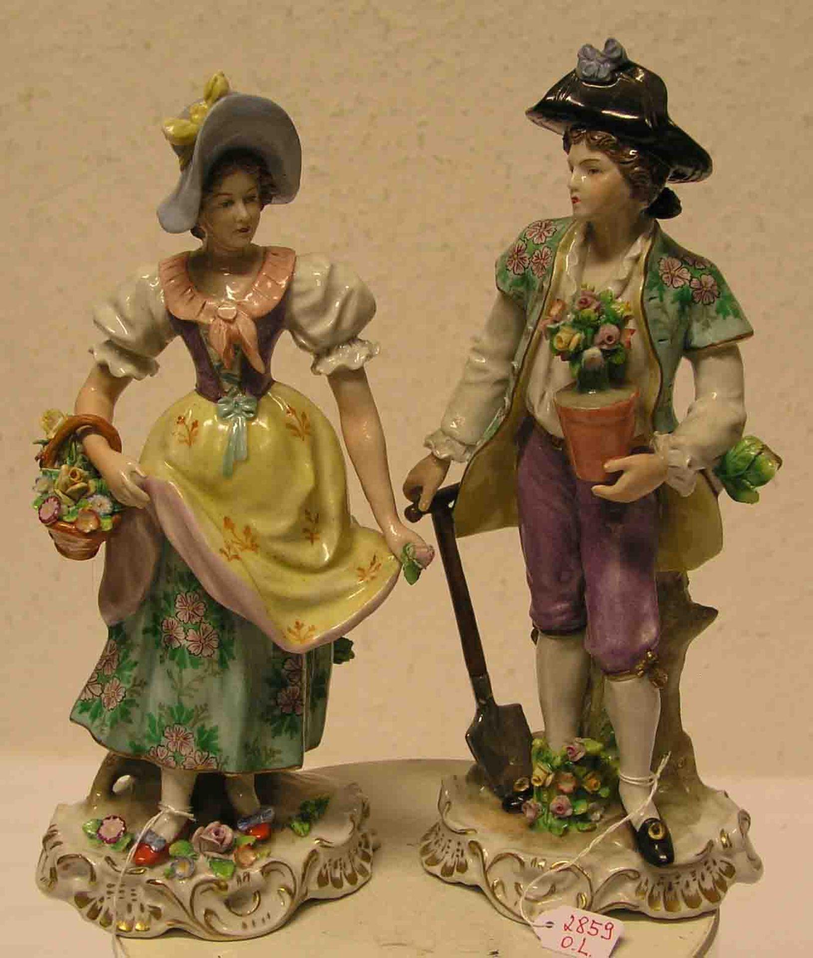 Gärtner - Rokokopaar. Porzellanfigur,