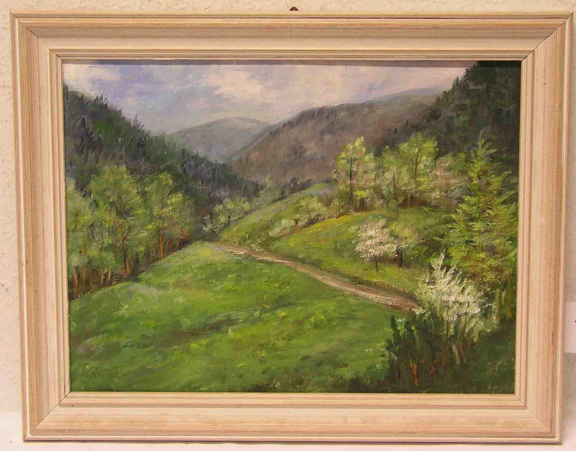 """Richter, R.: """"Bergige Landschaft""""."""