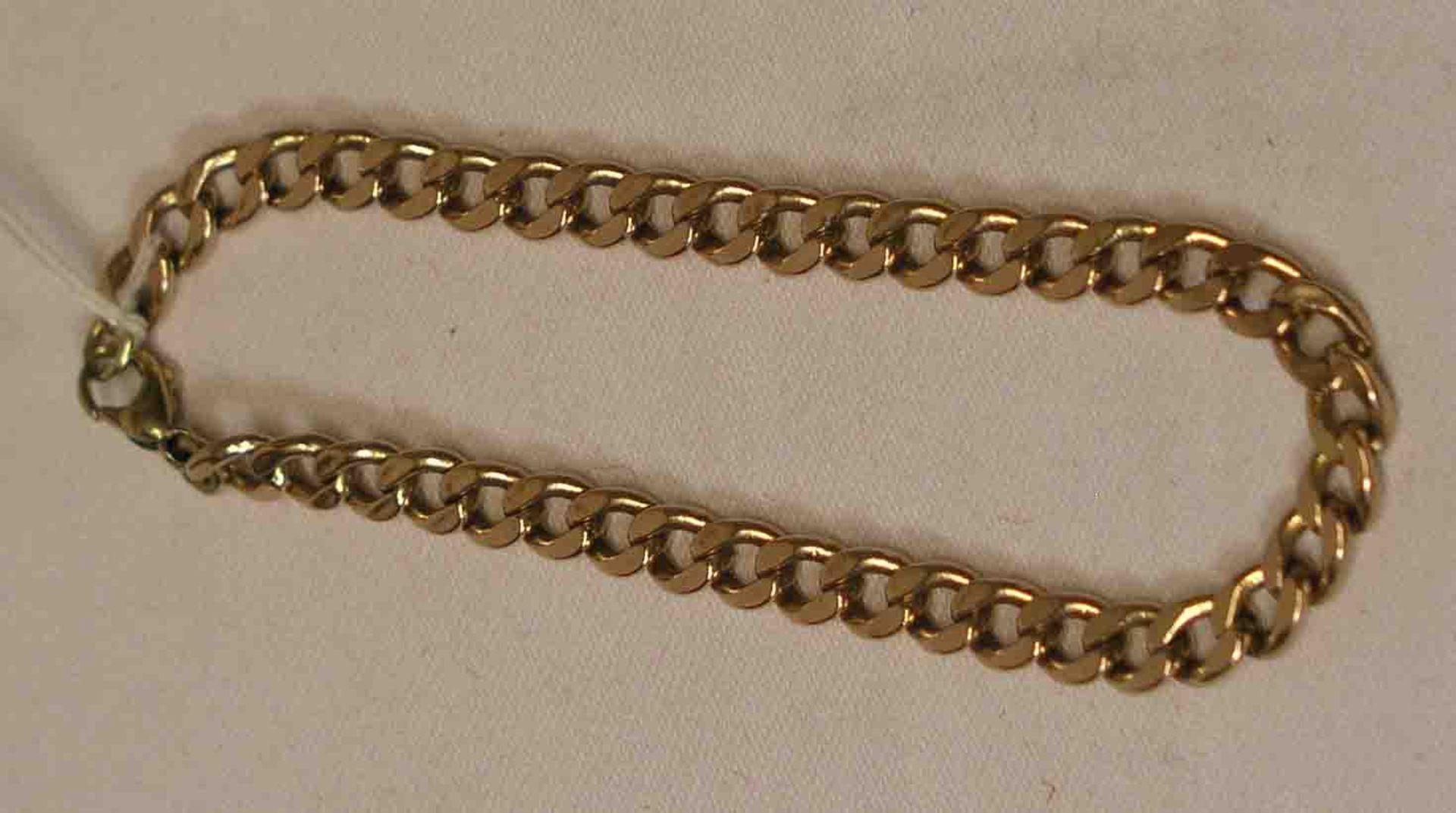 Armbandkette. 8 Kt. Rotgold. Länge: