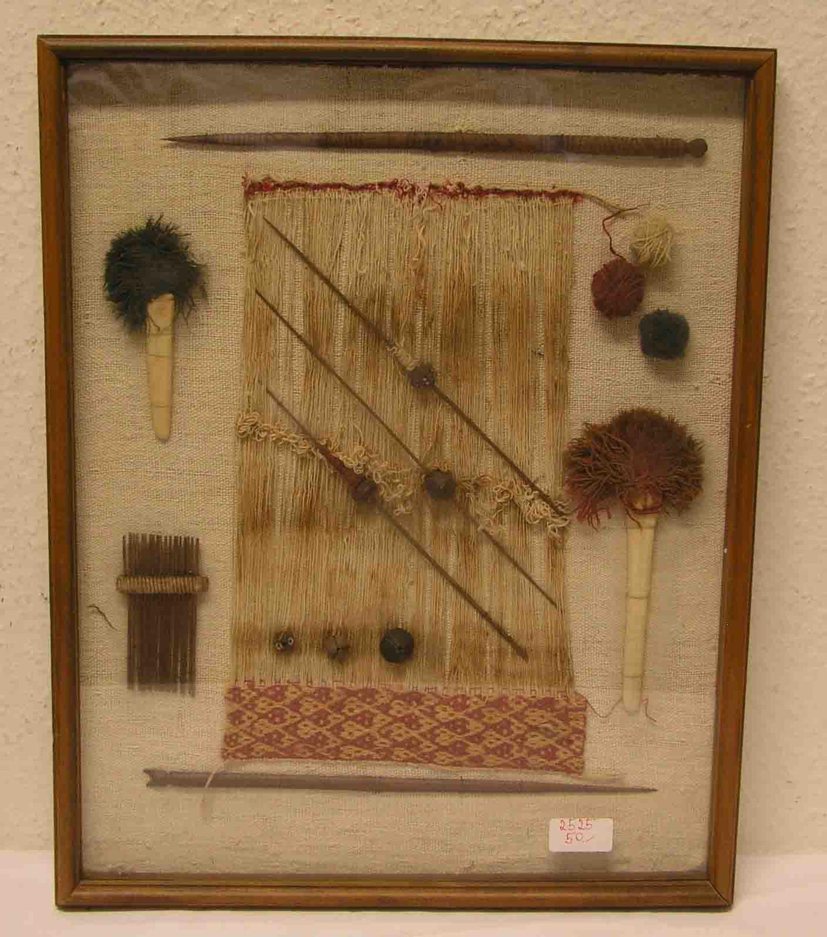 Inka - Textilarbeit. Im Rahmen mit