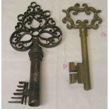 Zwei Deko Schlüssel. Eisen und